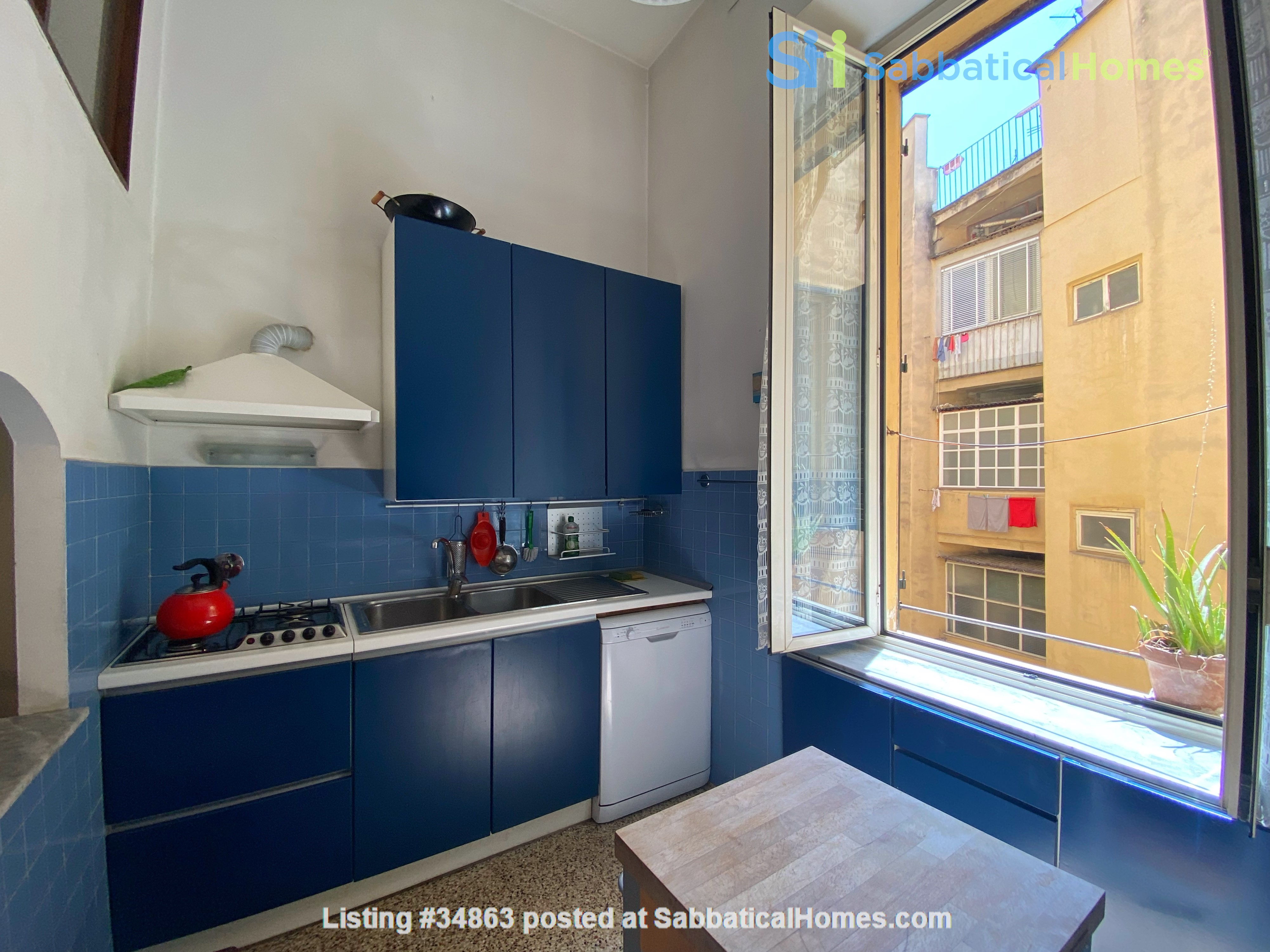 2 BR, 2 BA, spacious and comfortable apartment in Rome, Trastevere Home Rental in Rome 2
