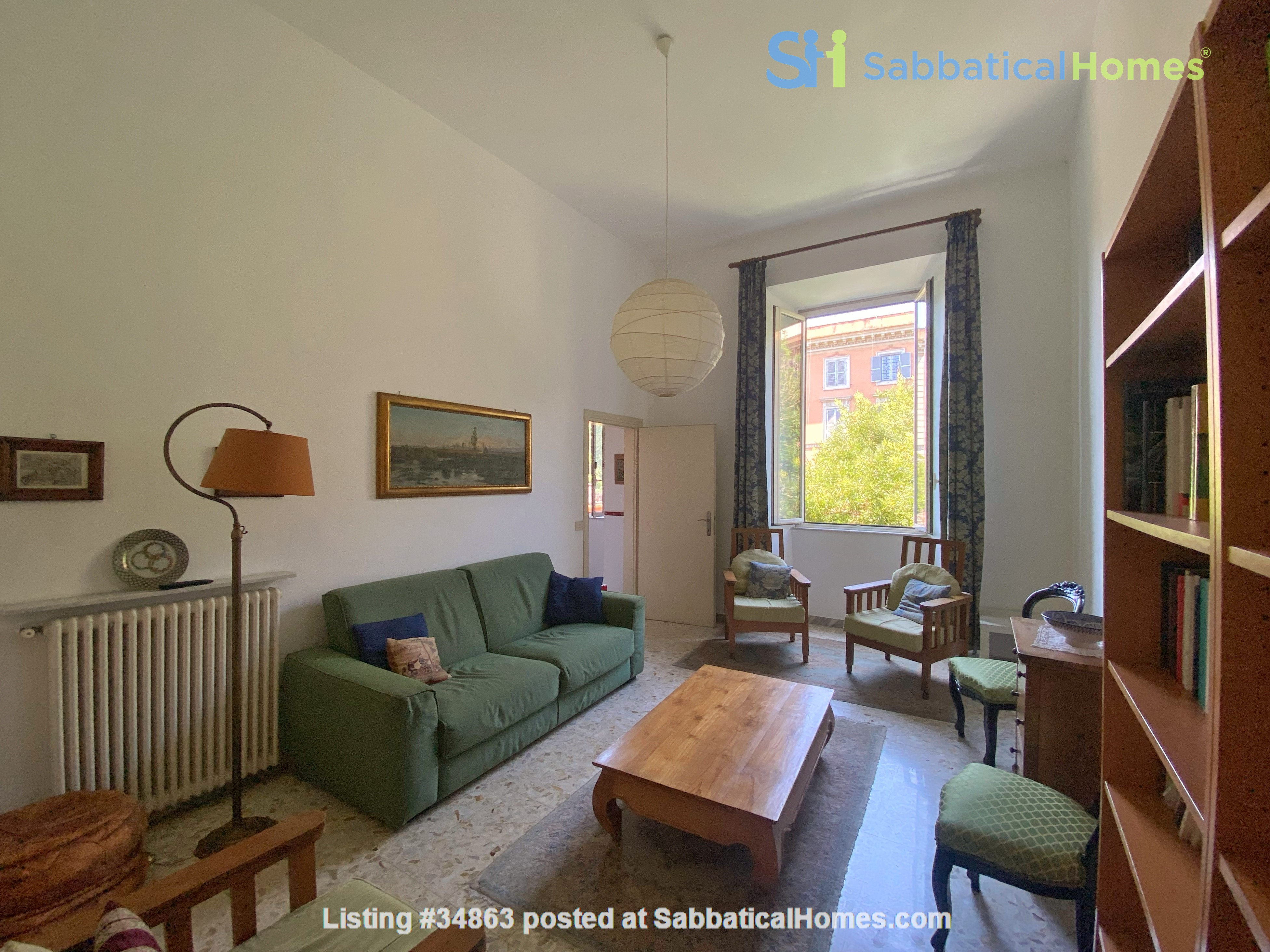 2 BR, 2 BA, spacious and comfortable apartment in Rome, Trastevere Home Rental in Rome 0