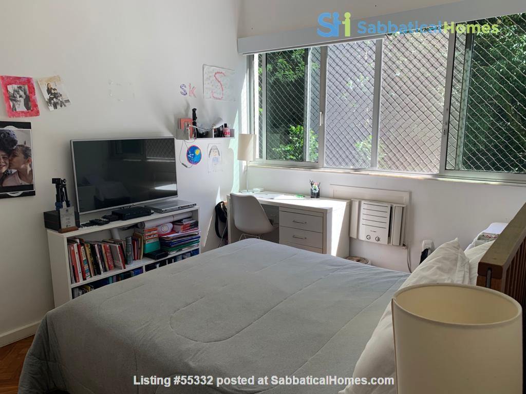 Rio de Janeiro Sunny 2BR apt in garden setting w 24/7 doorman Home Rental in Rio de Janeiro, Rio de Janeiro, Brazil 2