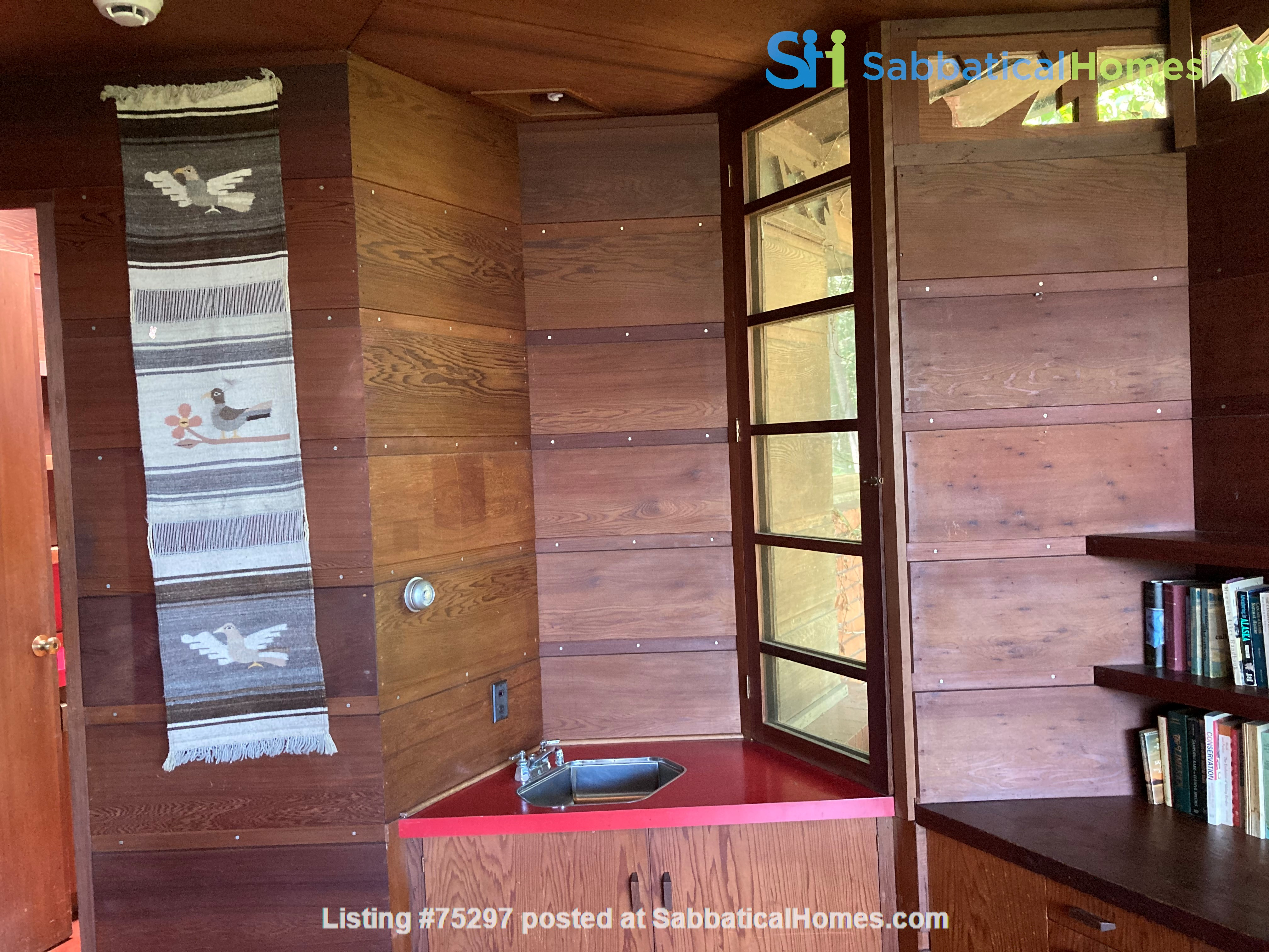 Frank Lloyd Wright house near Stanford, Silicon Valley, SF, and Berkeley Home Rental in Hillsborough 3