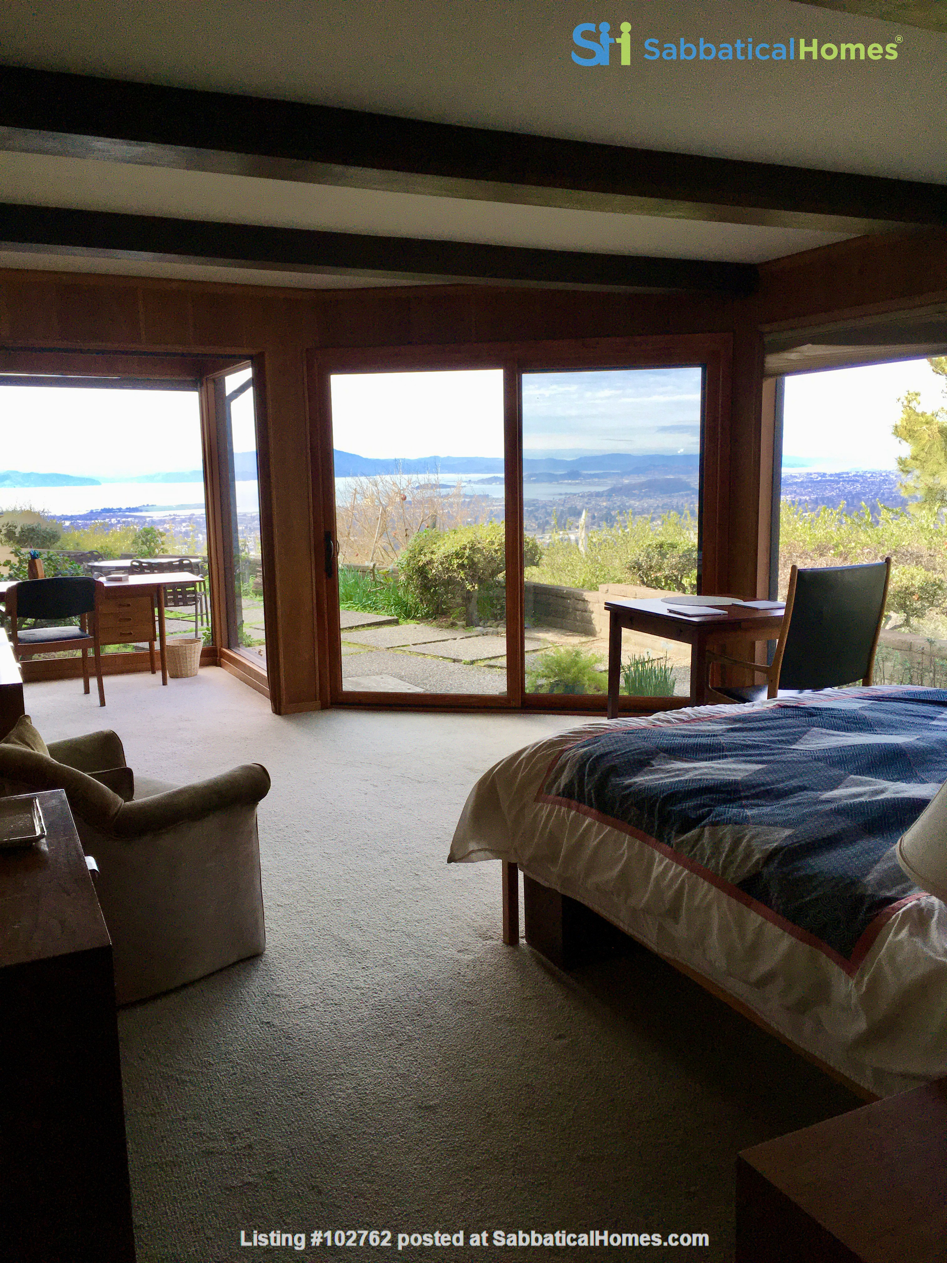 Master suite in  Berkeley Hills Home: Separate Private Entrance Home Rental in Berkeley, California, United States 0
