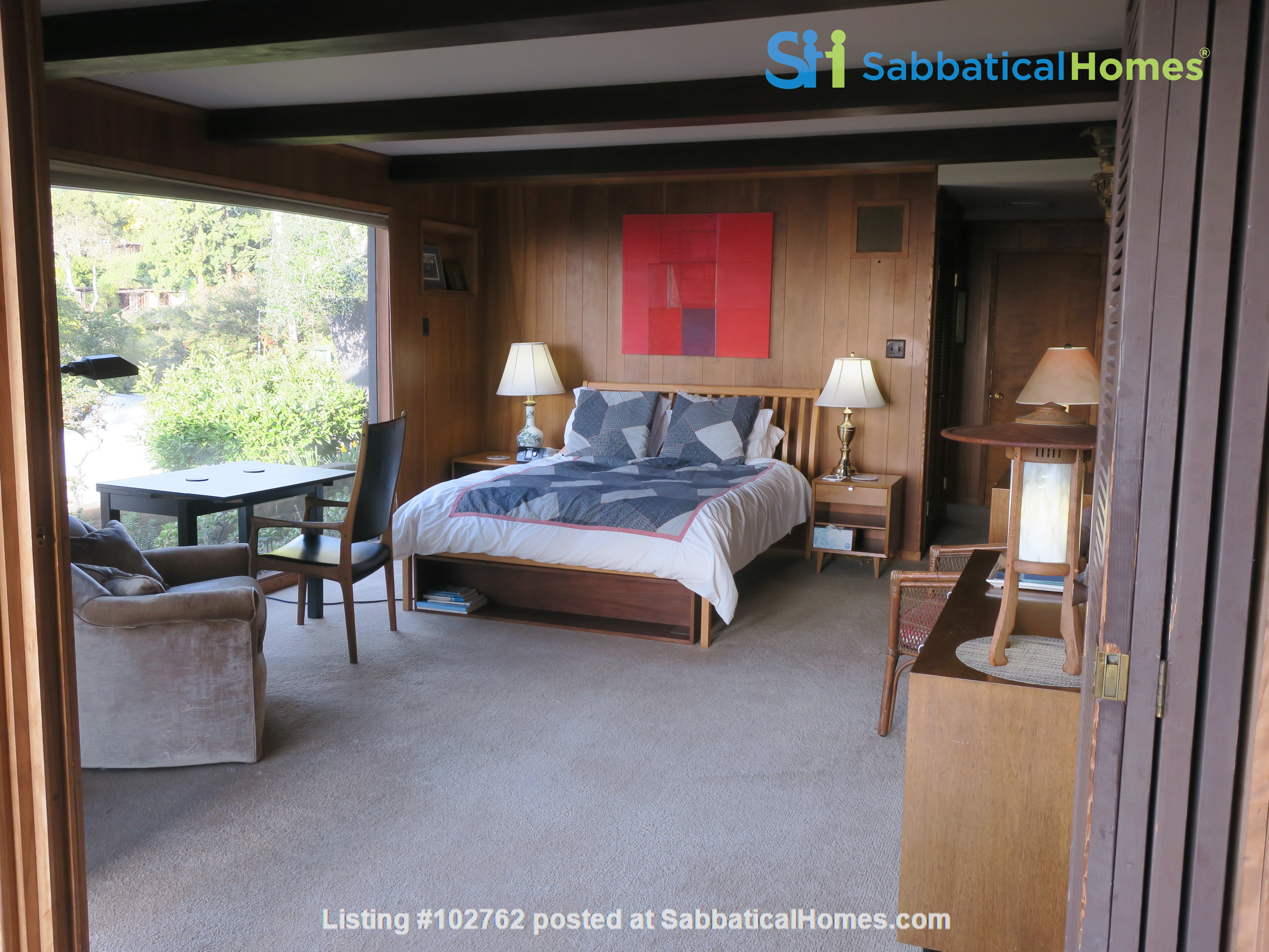 Master suite in  Berkeley Hills Home: Separate Private Entrance Home Rental in Berkeley, California, United States 1