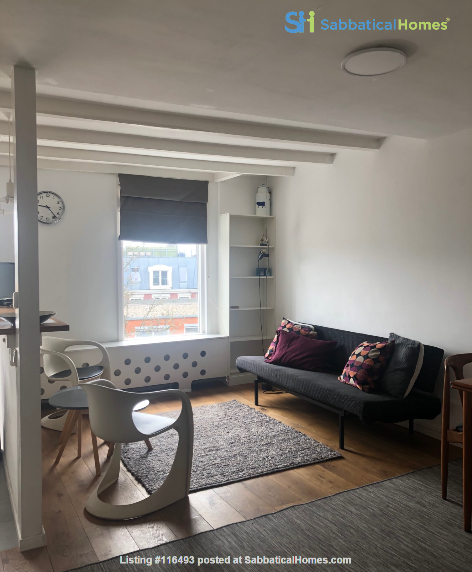Light Top Floor Apartment with Roof Terrace Home Rental in Amsterdam, Noord-Holland, Netherlands 7