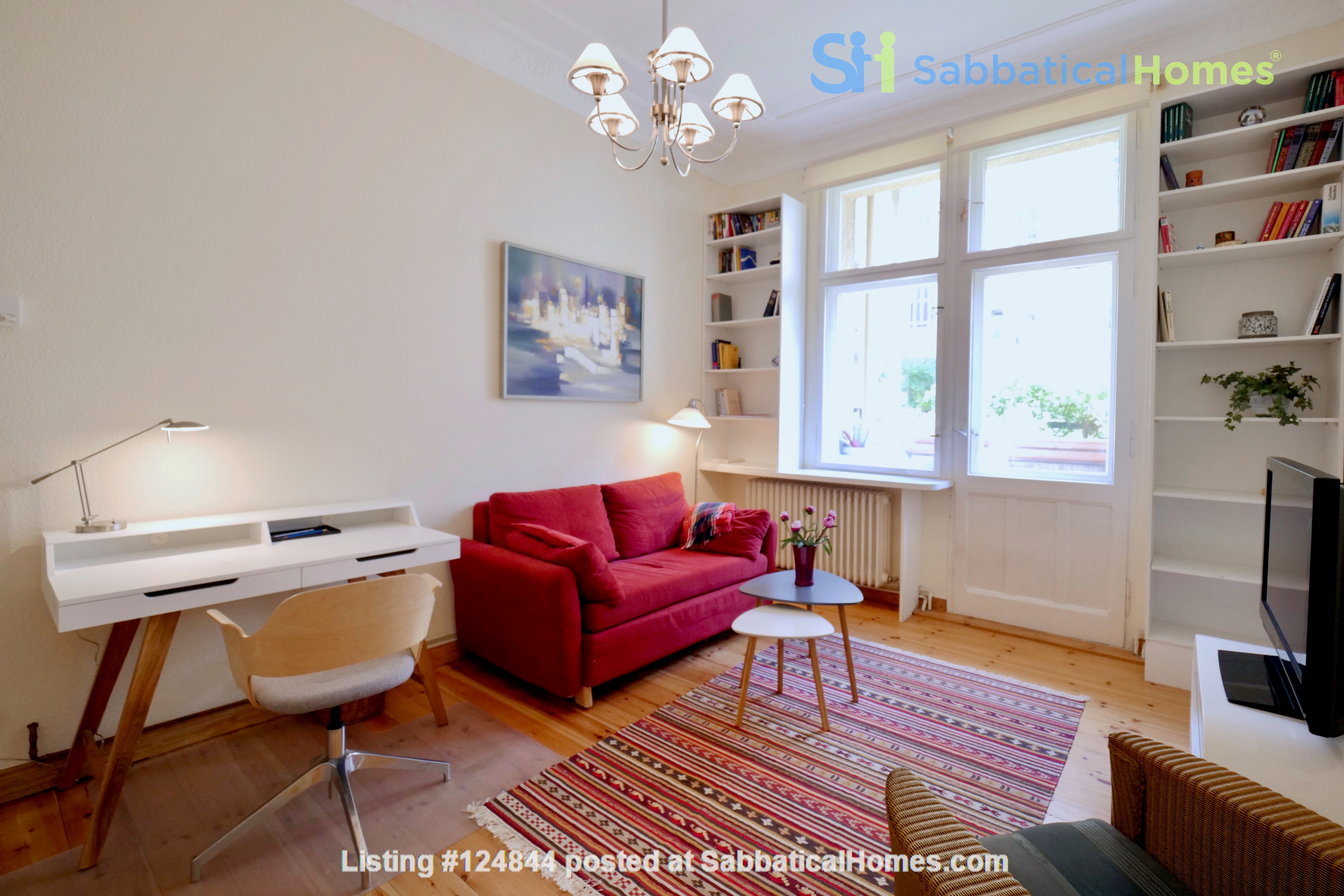 Charming 2-room apartment with balcony and fireplace Home Rental in Berlin, Berlin, Germany 1