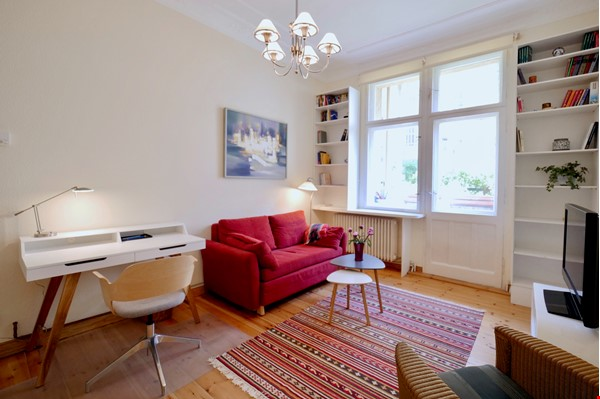 Charming 2-room apartment with balcony and fireplace Home Rental in Berlin 1 - thumbnail