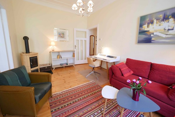 Charming 2-room apartment with balcony and fireplace Home Rental in Berlin 0 - thumbnail
