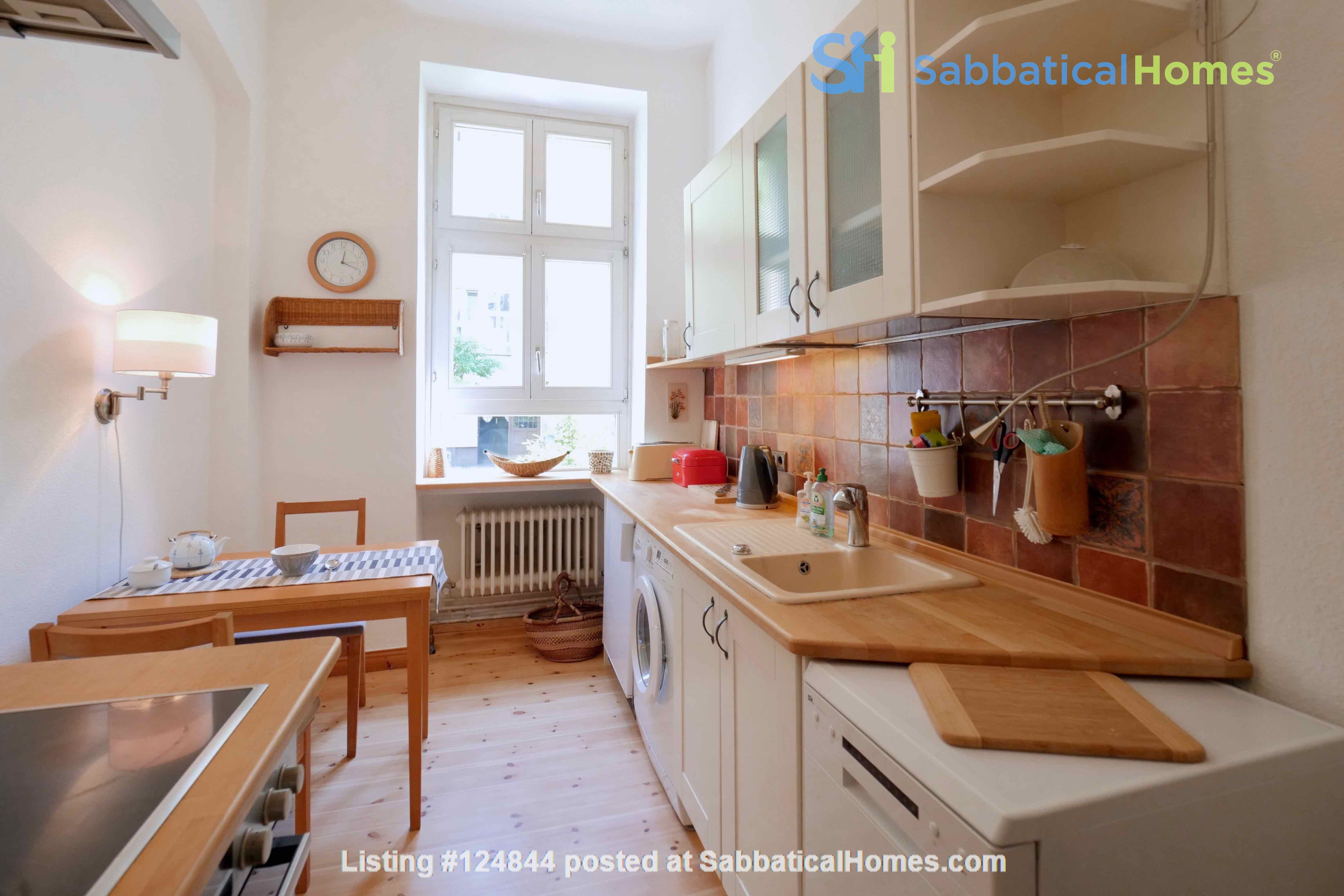 Charming 2-room apartment with balcony and fireplace Home Rental in Berlin, Berlin, Germany 3