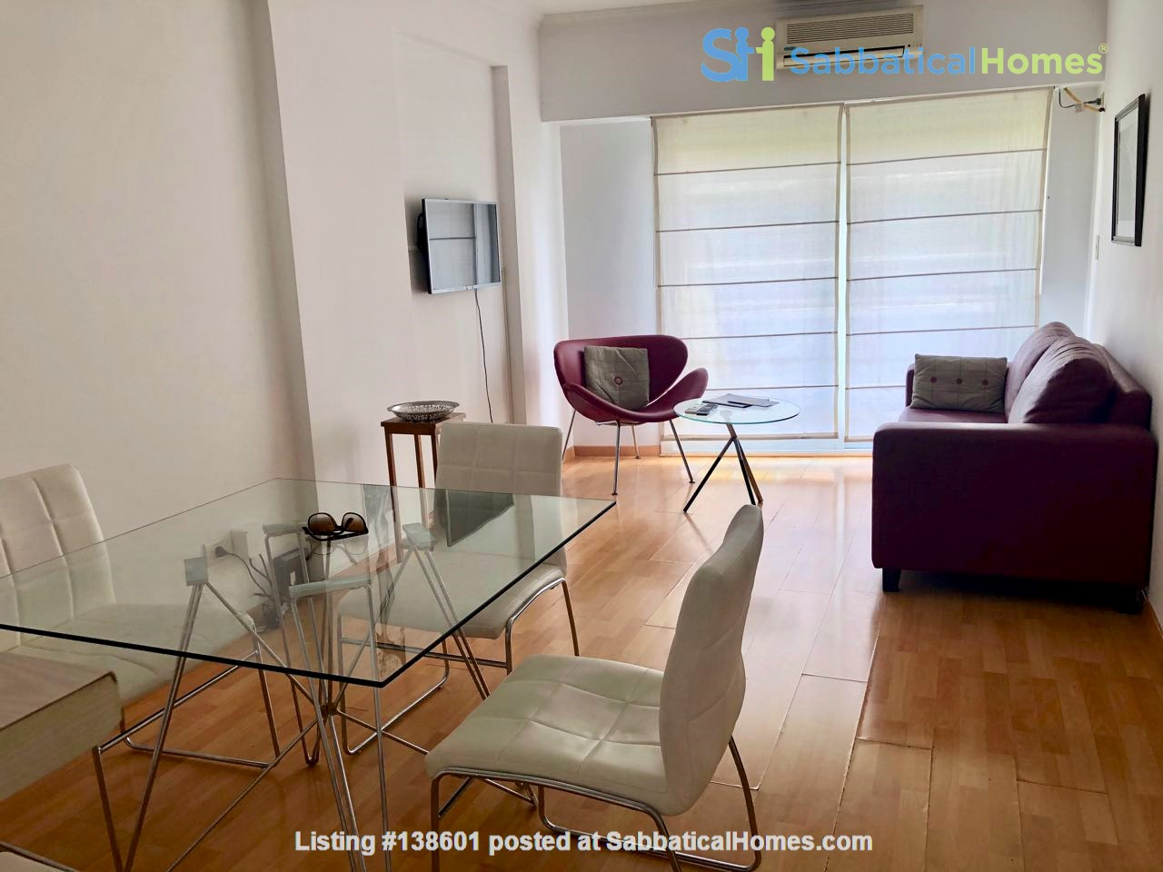 Luminous two bedroom apartment with  two bathrooms and two balconies Home Rental in Comuna 14, Buenos Aires, Argentina 3