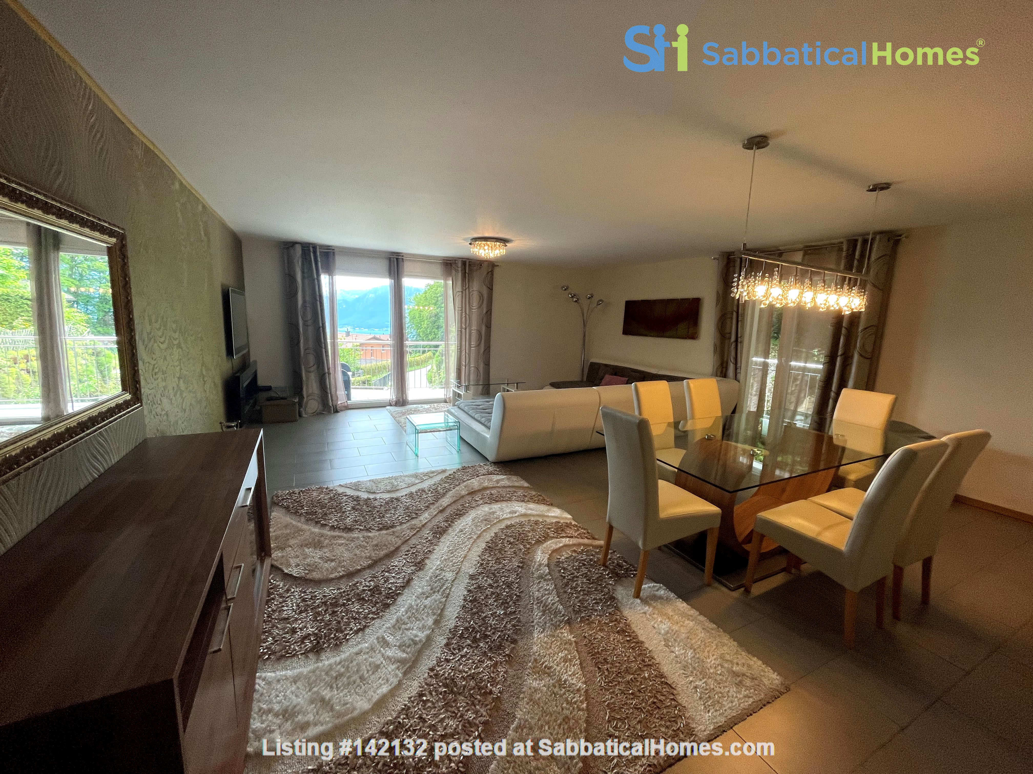 Furnished upscale flat for rent with 3 bedrooms and amazing view near Vevey Home Rental in Chardonne, Vaud, Switzerland 0