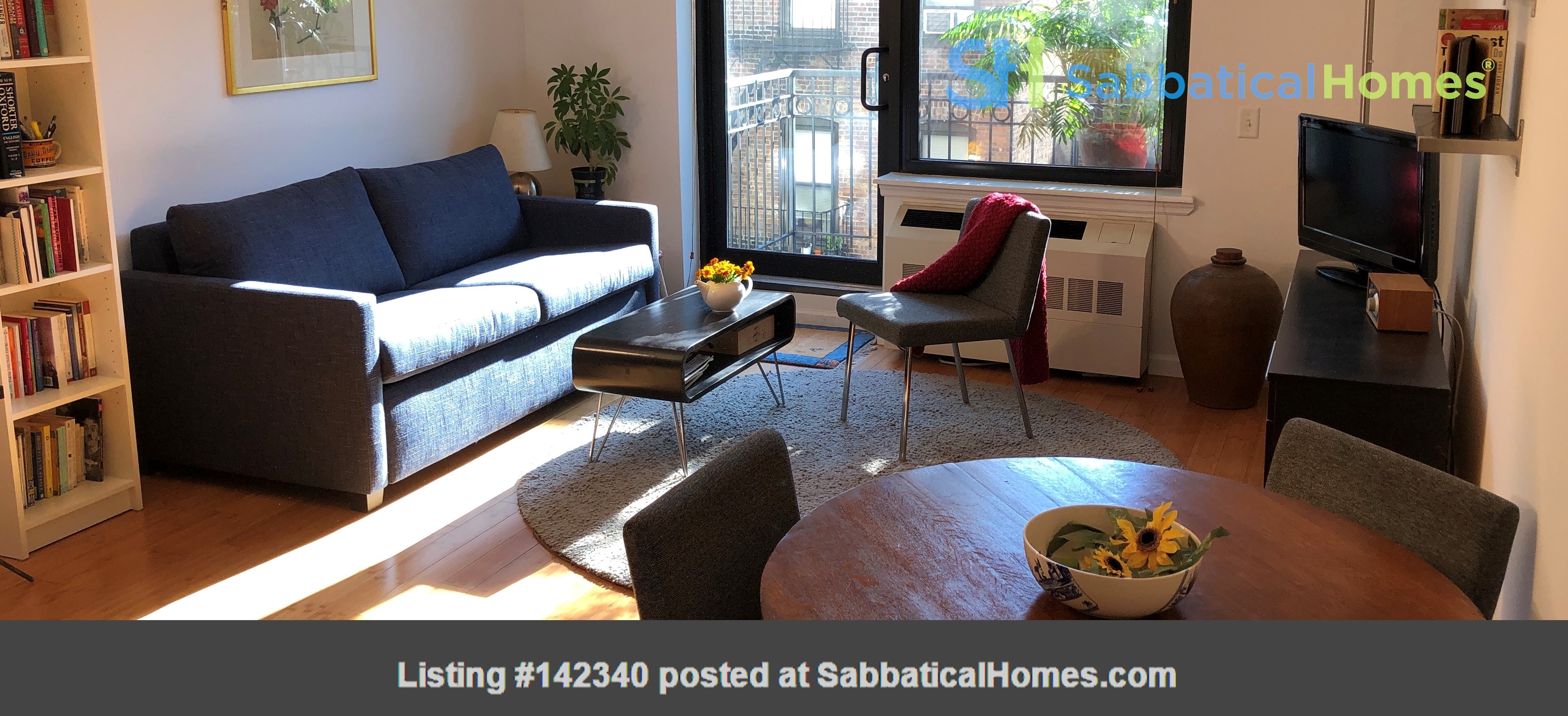 Bright, quiet 1-bedroom with washer/dryer, balcony at Columbia/CCNY Home Rental in New York 0