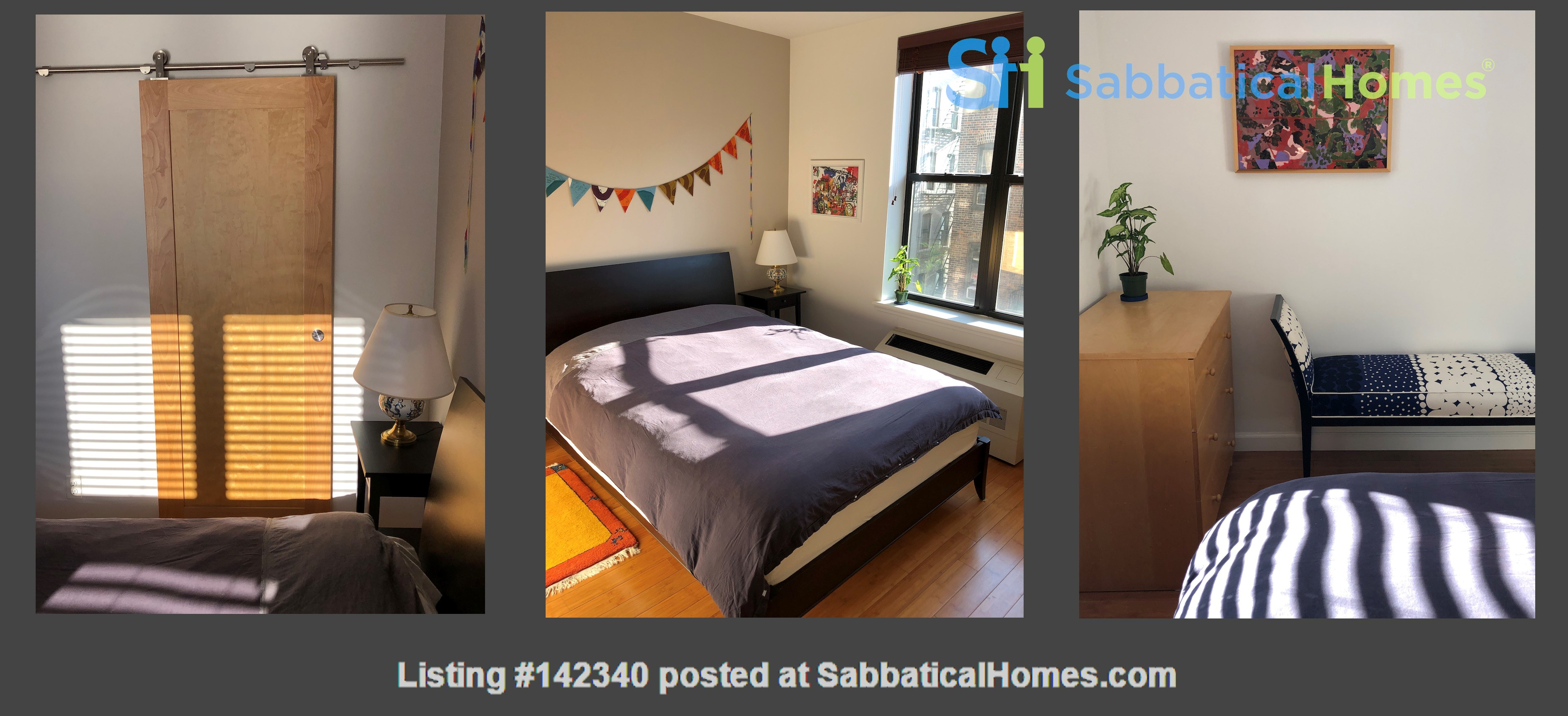 Bright, quiet 1-bedroom with washer/dryer, balcony at Columbia/CCNY Home Rental in New York 1