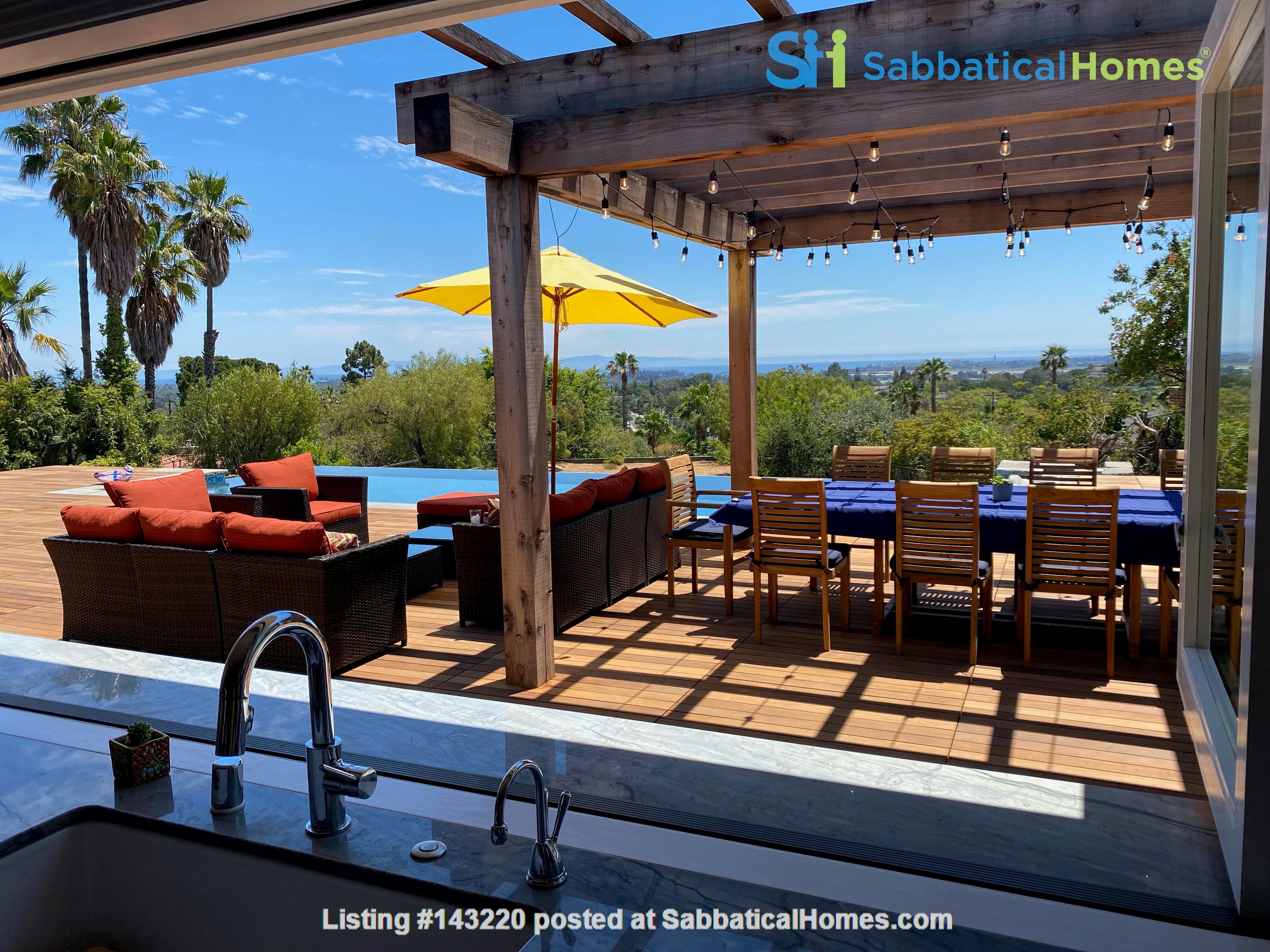 Newly renovated with infinity pool and ocean views Home Rental in Santa Barbara 0
