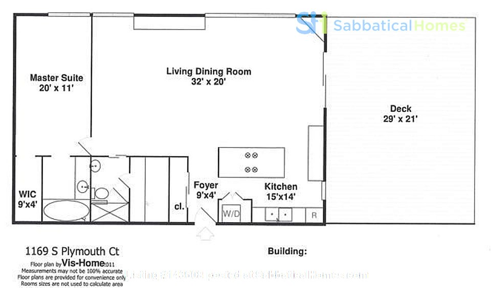 Furnished unit, top floor, gorgeous views. Near Grant Park, lake, museums. Home Rental in Chicago, Illinois, United States 5