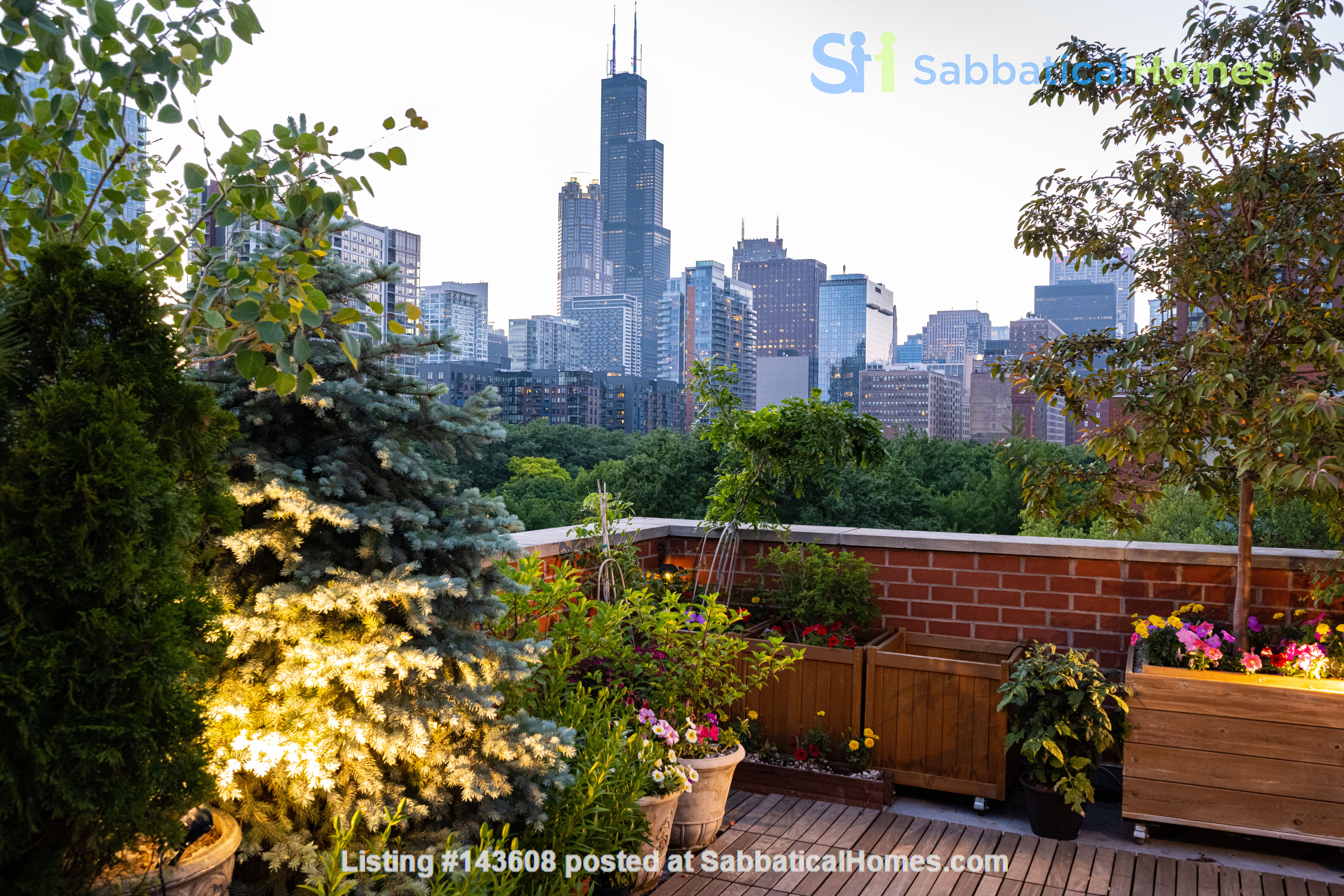 Furnished unit, top floor, gorgeous views. Near Grant Park, lake, museums. Home Rental in Chicago, Illinois, United States 0