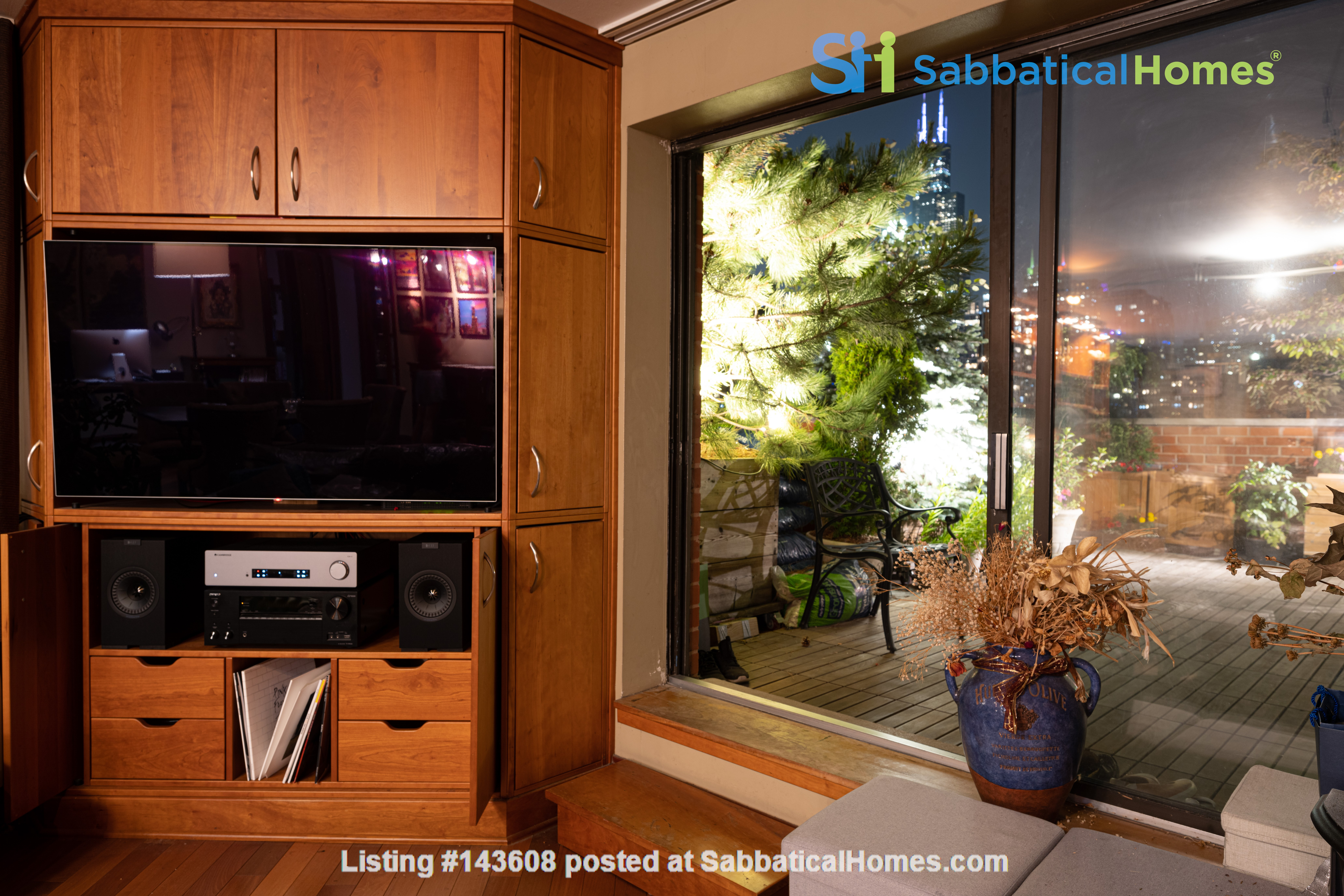 Furnished unit, top floor, gorgeous views. Near Grant Park, lake, museums. Home Rental in Chicago, Illinois, United States 2