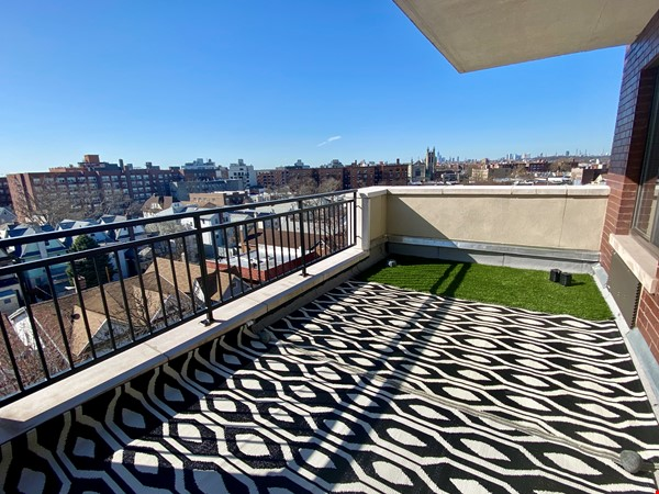 Beautiful, light filled 2 BR, 2 BA + Terrace & Indoor Parking in Brooklyn Home Rental in  8 - thumbnail