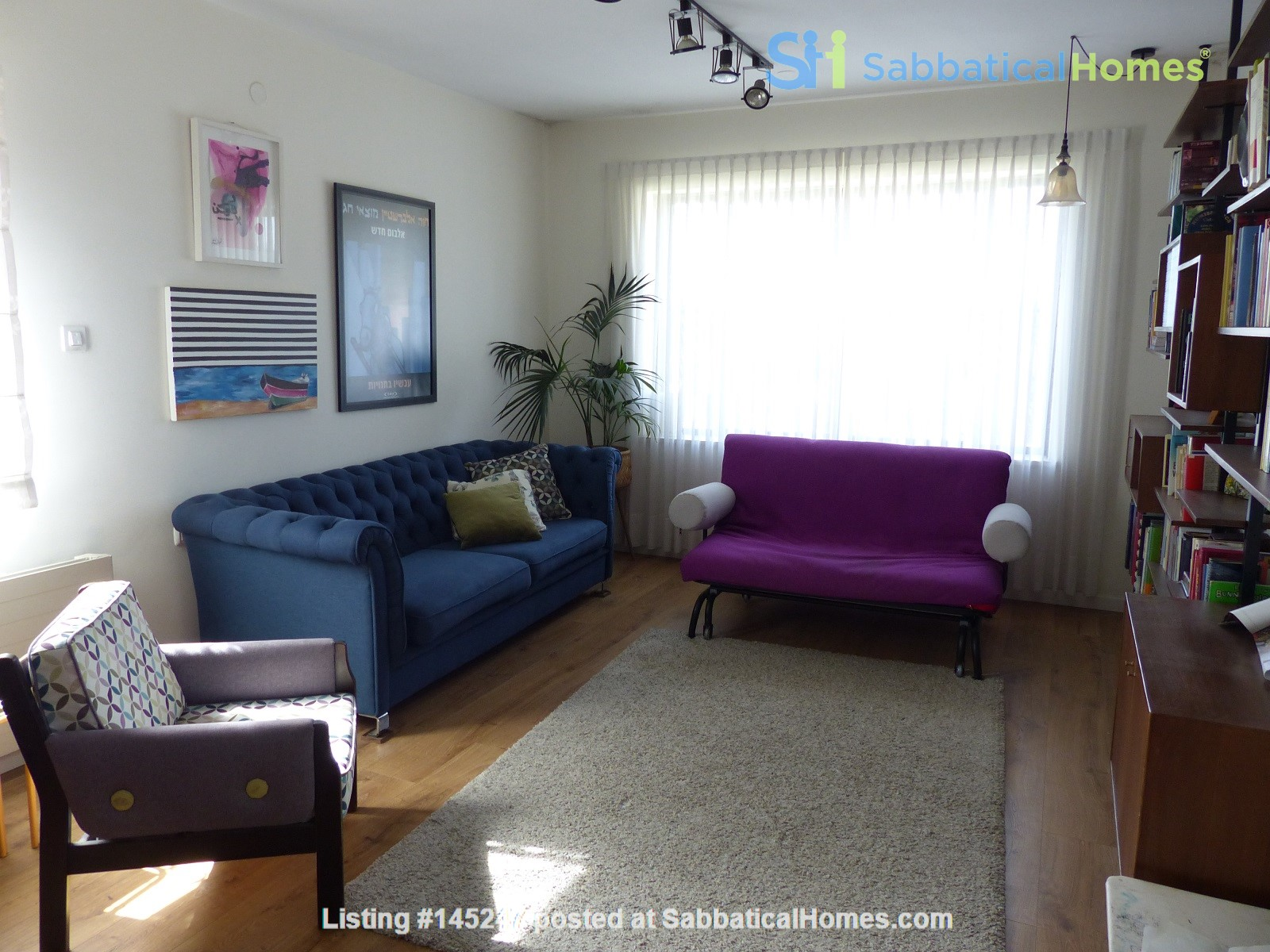 Bright renovated apartment (2BR) with great views near Givat Ram Home Rental in Jerusalem, Jerusalem District, Israel 0