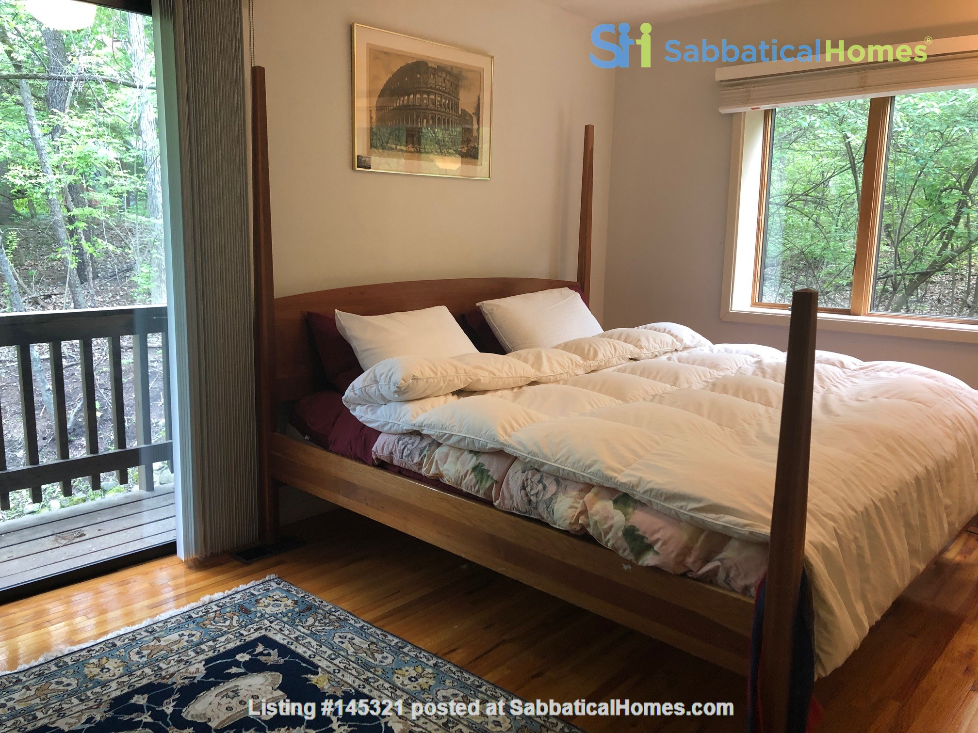 Lovely four bedroom house, wooded setting near UM Central campus & hospital Home Rental in Ann Arbor, Michigan, United States 4