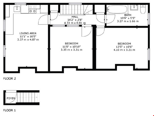 A spacious first floor 2 bedroom apartment (approximately 60 sqm/640 Home Rental in  7 - thumbnail