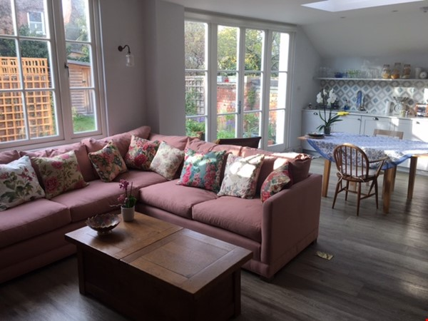 Large bedroom and private bathroom in lovely garden flat in North London Home Rental in  0 - thumbnail