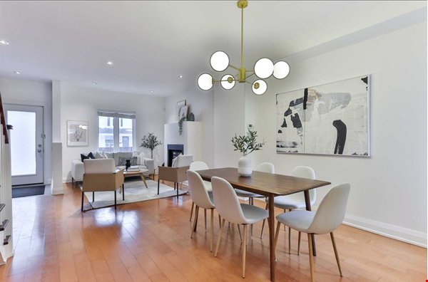 Beautiful open-concept home in the heart of Leslieville, Toronto Home Rental in Toronto 1 - thumbnail