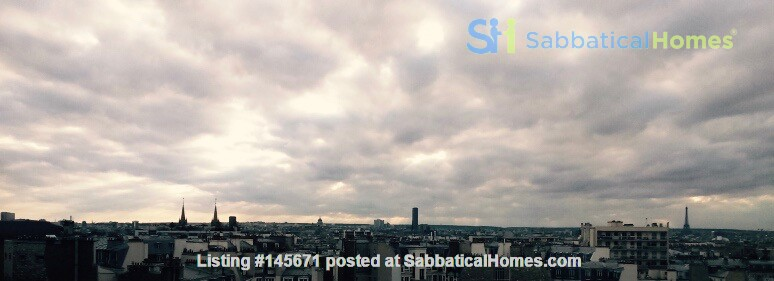 Very large, sunny and quite flat with an amazing view over Paris Home Rental in Paris, Île-de-France, France 7