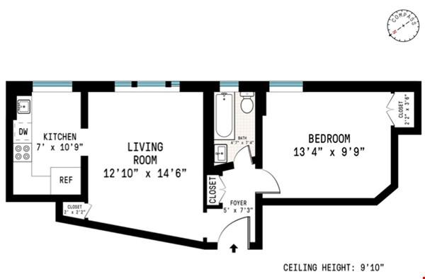 One bedroom sabbatical rental on UWS near Columbia Univ (09/21-06/22) Home Rental in New York 0 - thumbnail