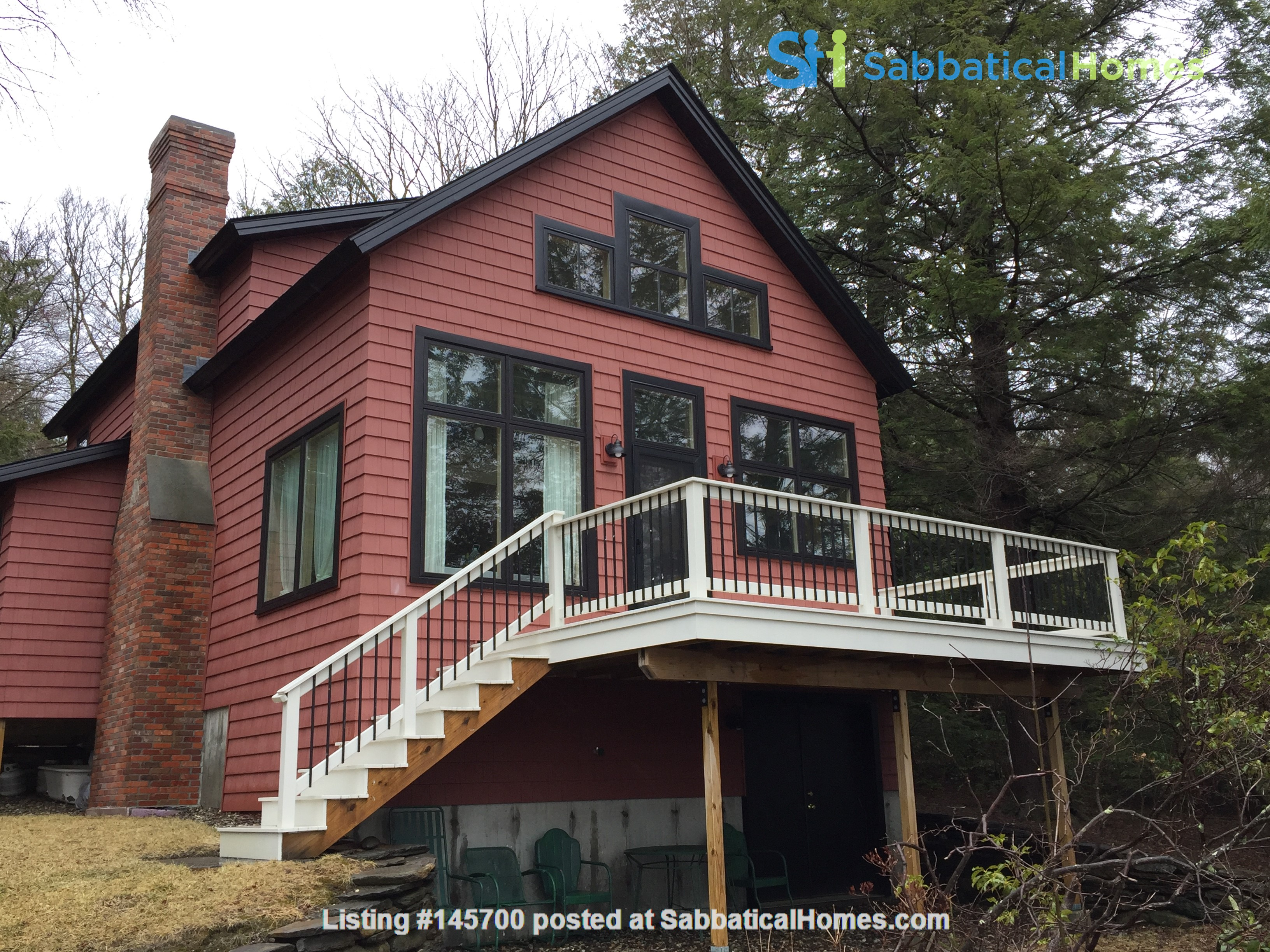 Airy, Modern, Lakefront w/Large Deck, Sunset views Home Rental in Williamsburg, Massachusetts, United States 0