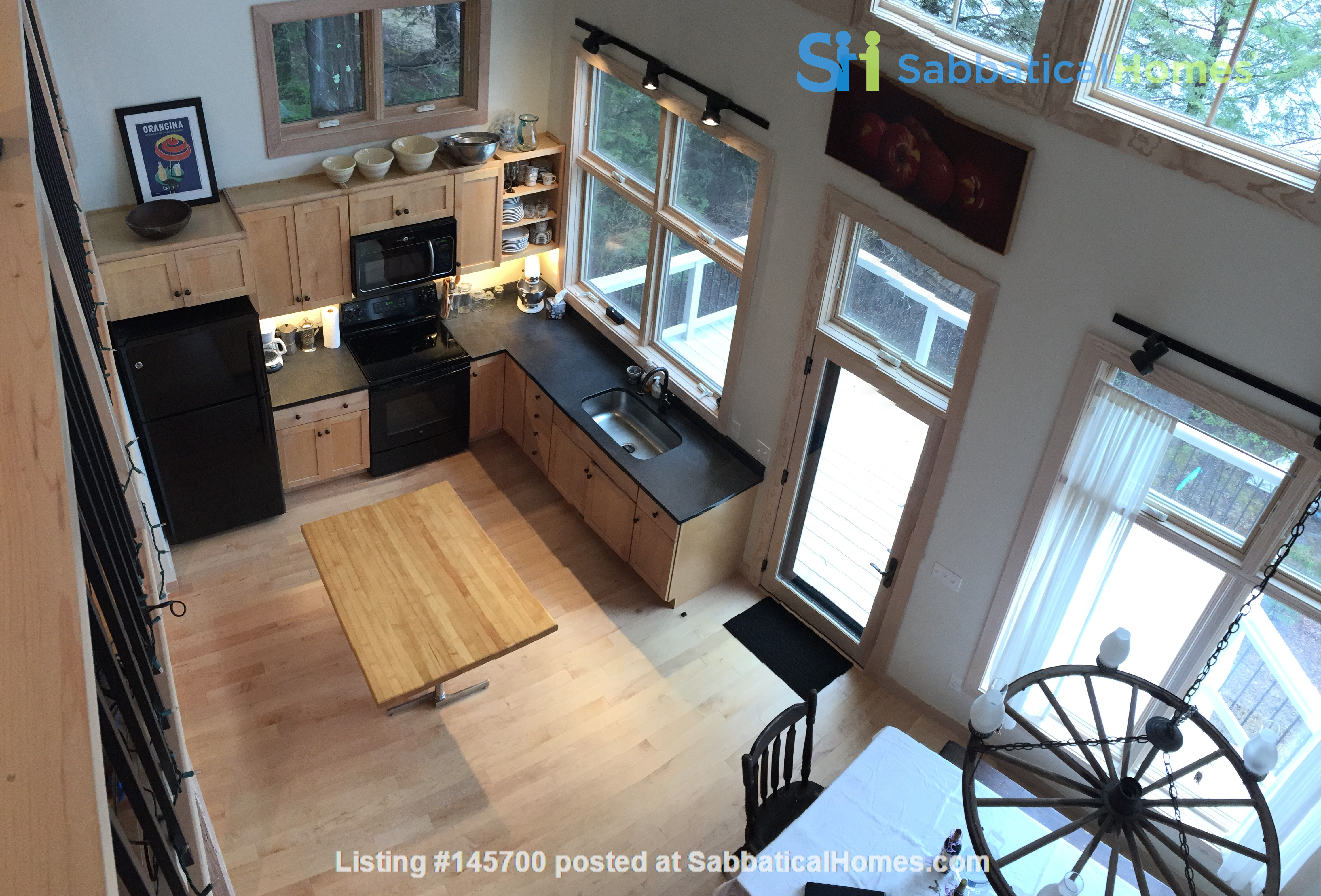 Airy, Modern, Lakefront w/Large Deck, Sunset views Home Rental in Williamsburg, Massachusetts, United States 1