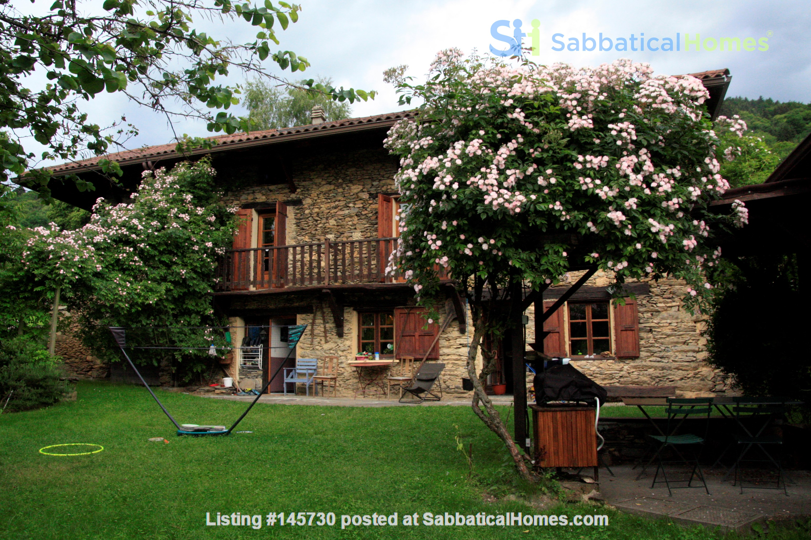 Cosy stone house in the french Alps with huge garden and mountain views Home Exchange in Le Moutaret 0