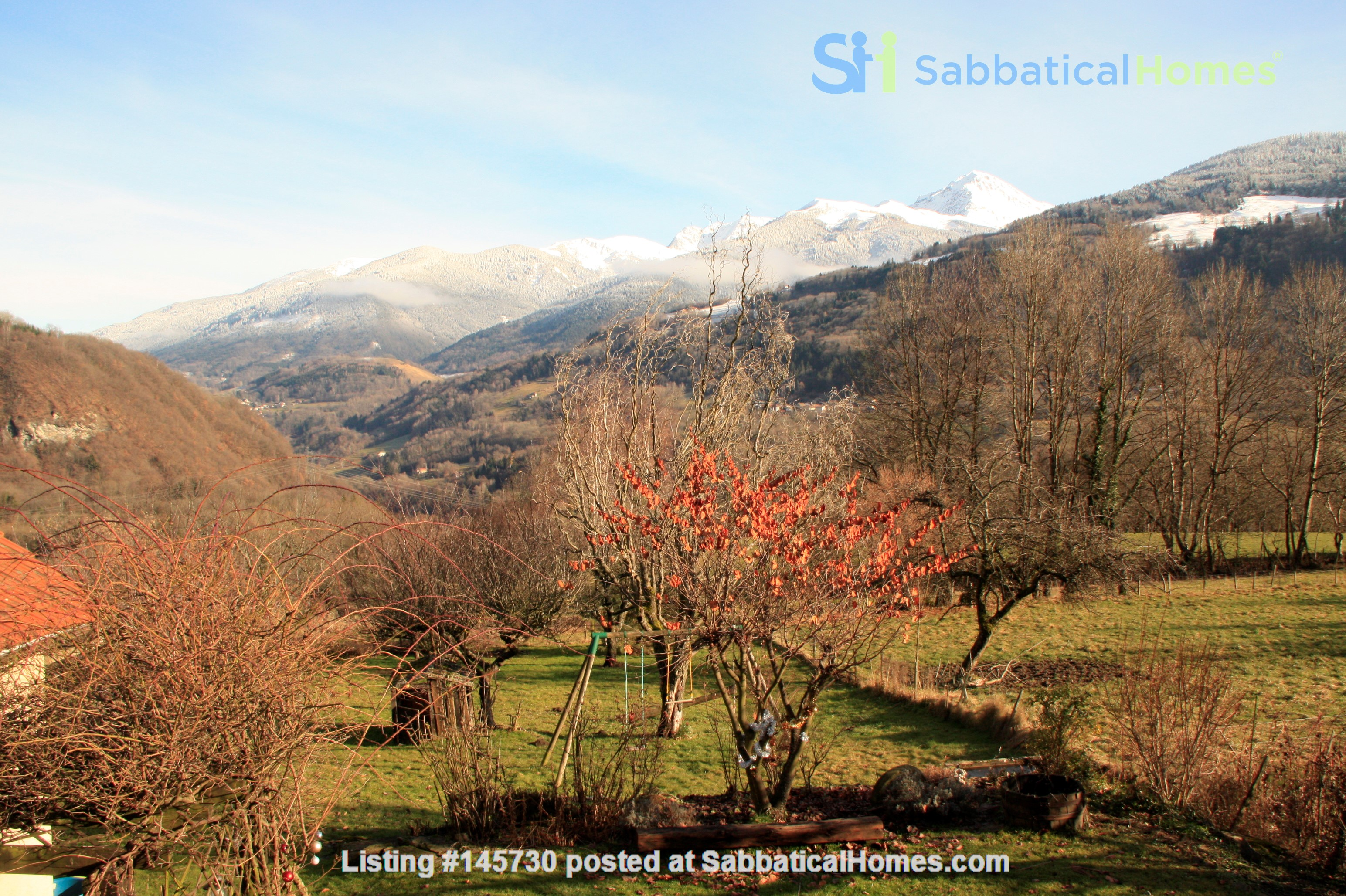 Cosy stone house in the french Alps with huge garden and mountain views Home Exchange in Le Moutaret 5