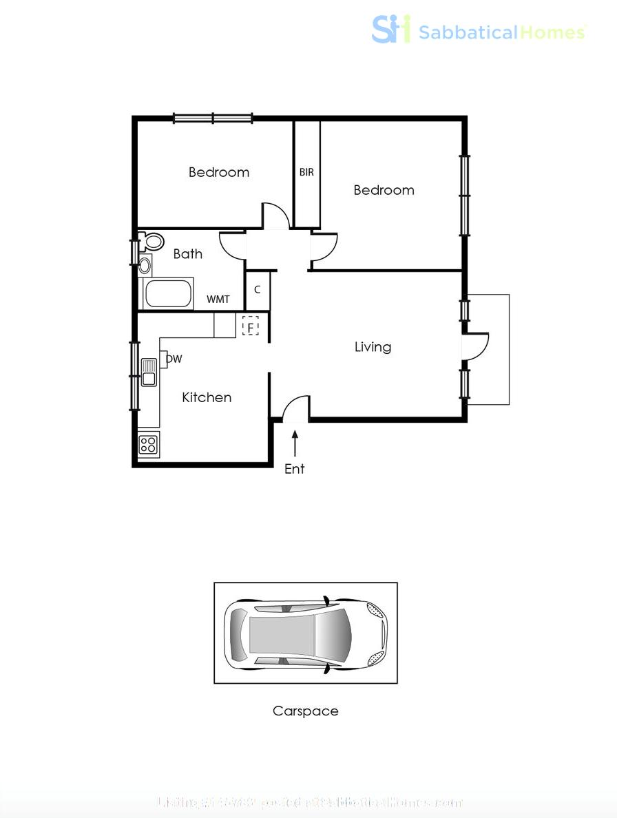 2 bedroom apartment in inner city Melbourne Home Rental in St Kilda East 3