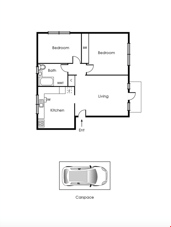 2 bedroom apartment in inner city Melbourne Home Rental in St Kilda East 3 - thumbnail
