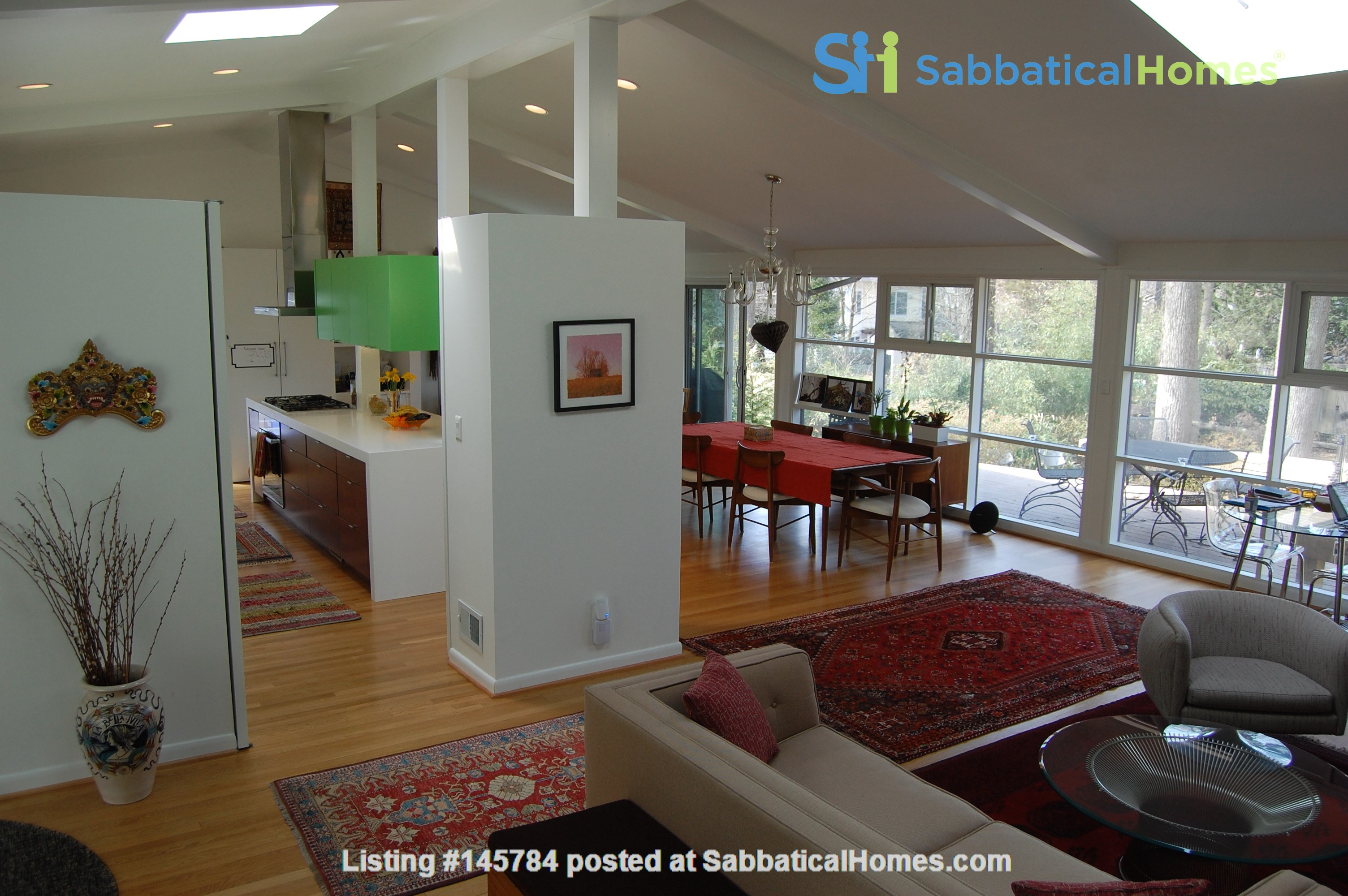 Renovated mid-century modern home (furnished) in desirable Chevy Chase, MD Home Rental in Chevy Chase 0