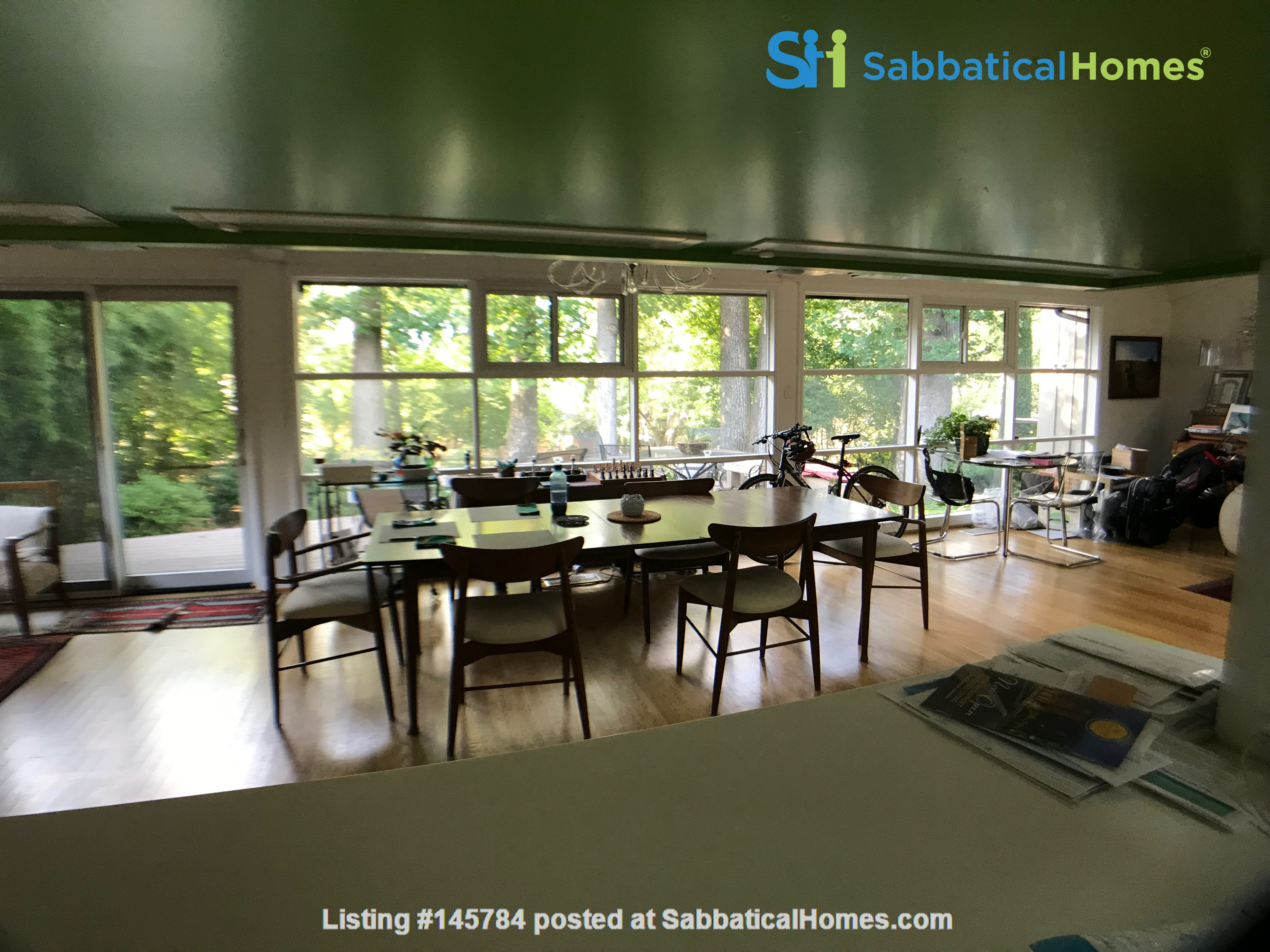 Renovated mid-century modern home (furnished) in desirable Chevy Chase, MD Home Rental in Chevy Chase 2