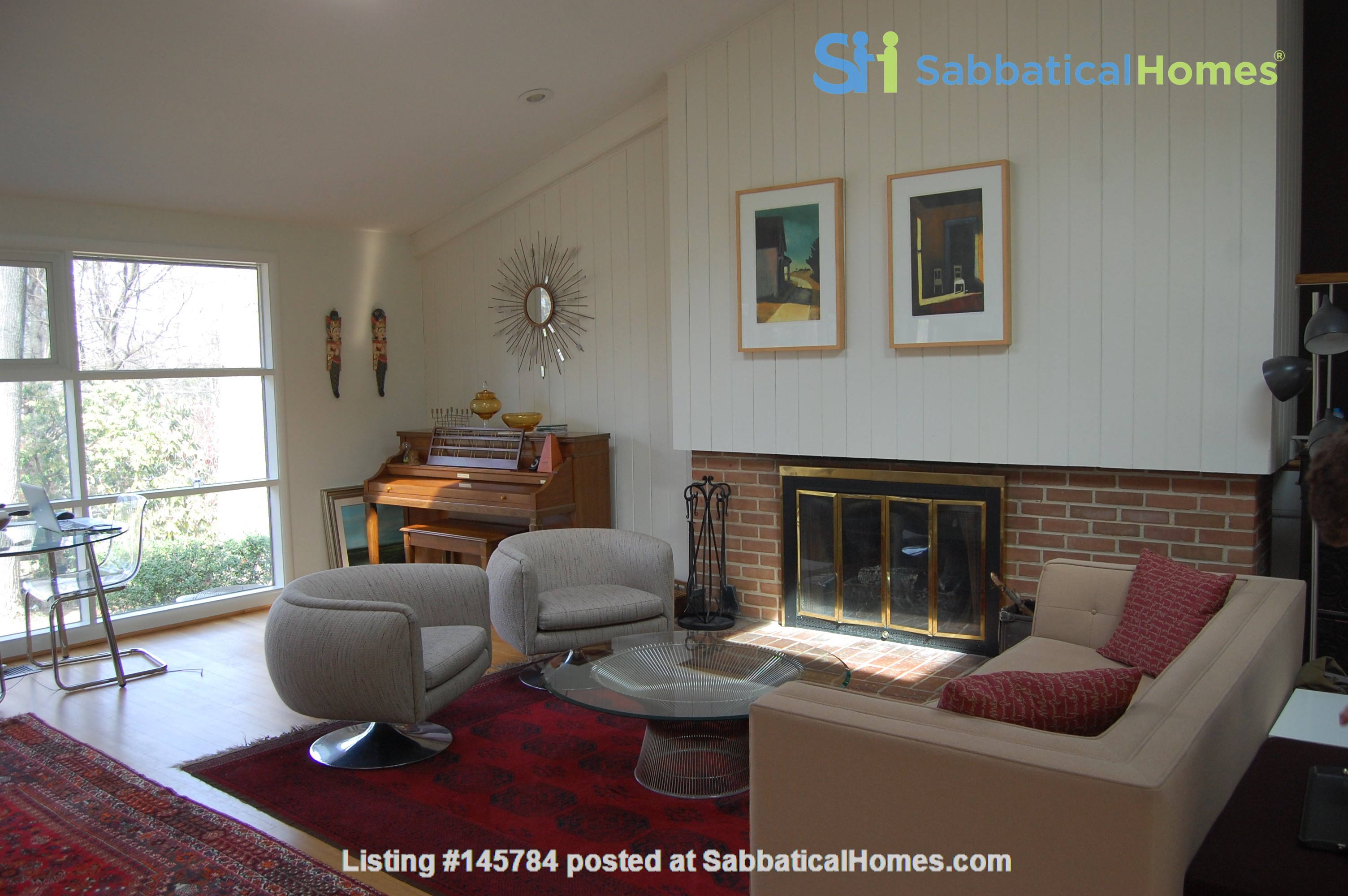 Renovated mid-century modern home (furnished) in desirable Chevy Chase, MD Home Rental in Chevy Chase 1