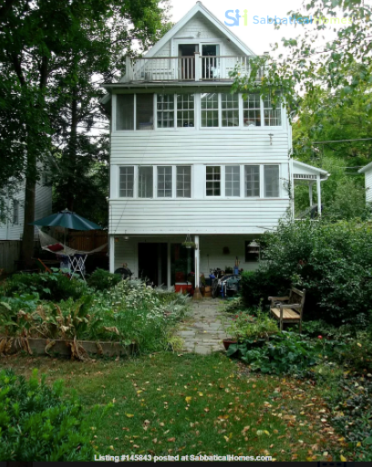 Lovely furnished 4-br, short beautiful walk from Cornell, for spring 2022 Home Rental in Ithaca 4