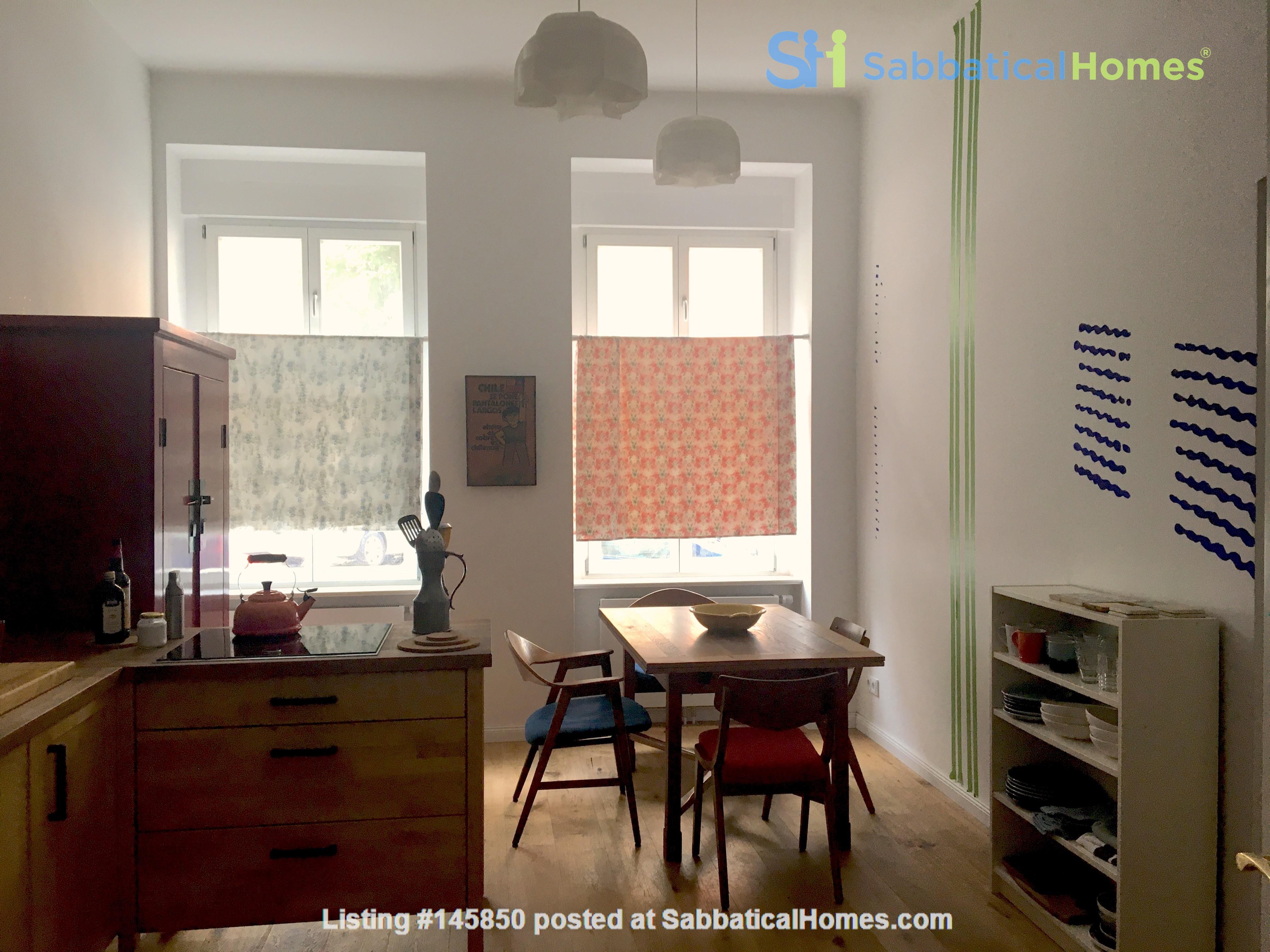 Freshly renovated, quiet, ground-floor apt w/terrace & beautiful details Home Rental in Berlin 0