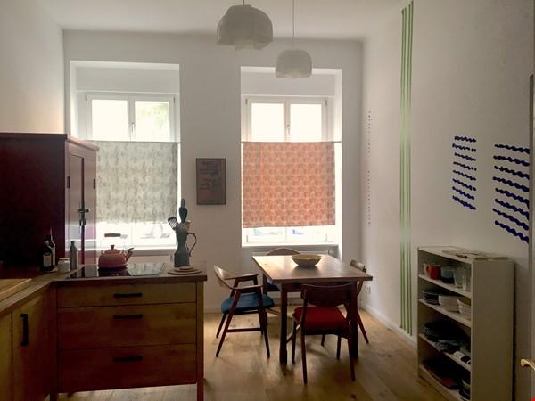 Freshly renovated, quiet, ground-floor apt w/terrace & beautiful details Home Rental in Berlin 0 - thumbnail