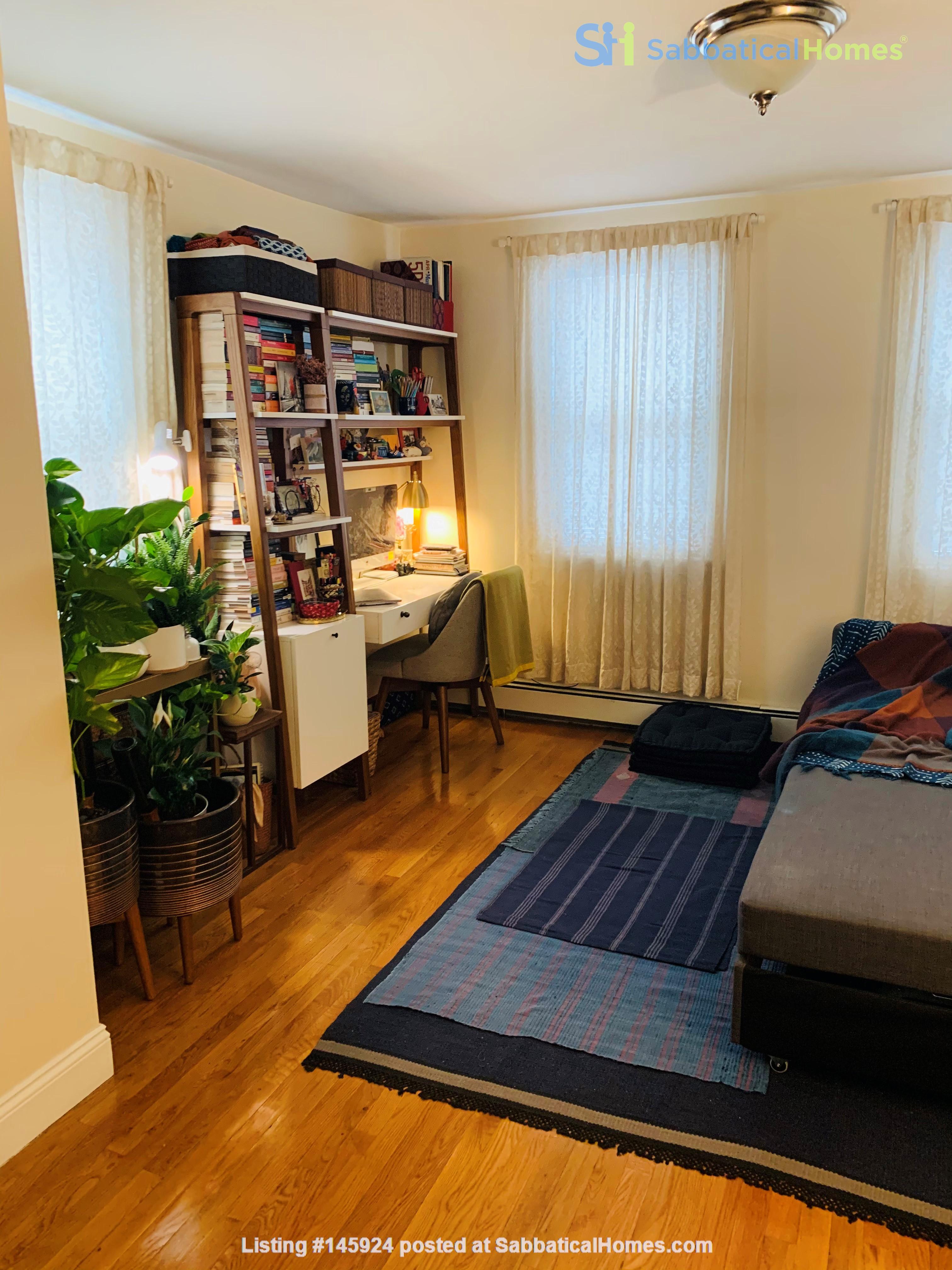 Modern, sunny, 2 bed 1 bath 1st floor unit with W+D, den & backyard garden Home Rental in Cambridge 6