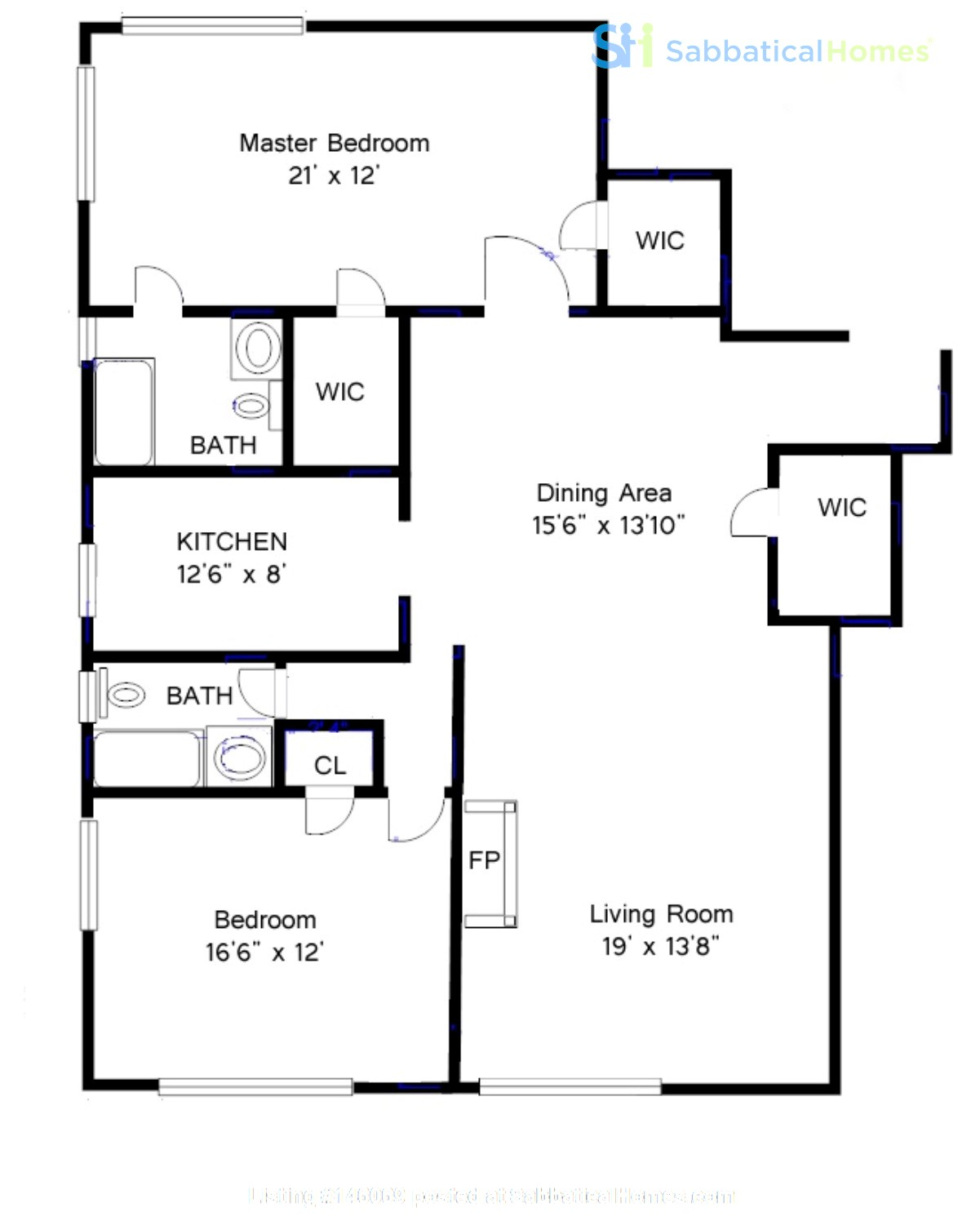 Large, sun-filled 2 bedroom 2 full-bath across from Columbia University Home Rental in New York 7
