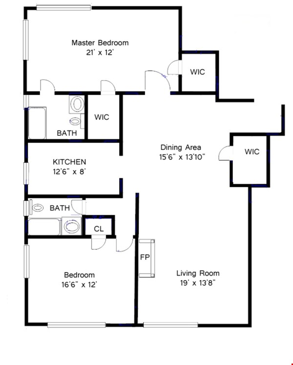 Large, sun-filled 2 bedroom 2 full-bath across from Columbia University Home Rental in New York 7 - thumbnail