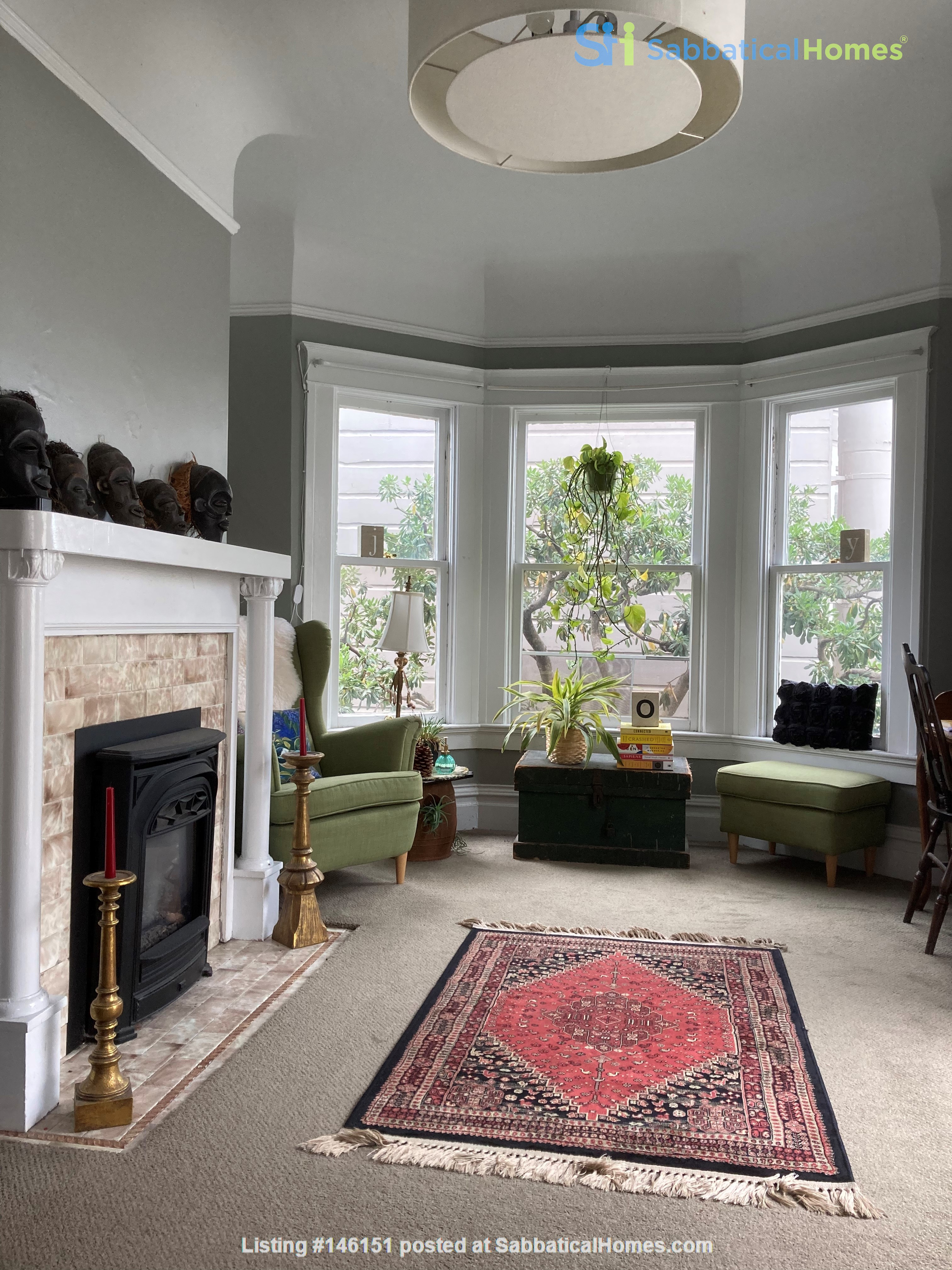 Historic, central SF Victorian in Russian Hill, views of Golden Gate Bridge Home Rental in SF 0