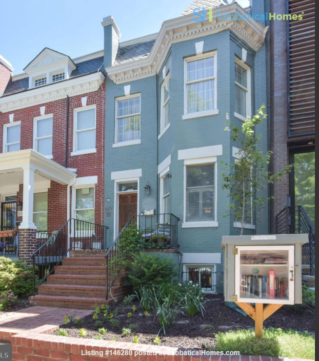 Spacious Capitol Hill Rowhouse with Large Outdoor Space and Parking Home Rental in Washington 0